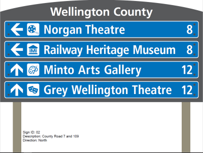 Wellington county blade sign sample