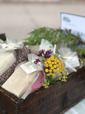 basket of artisan soaps