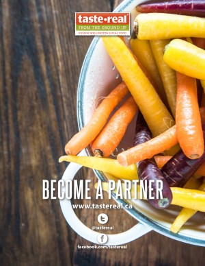 partner brochure cover with carrots