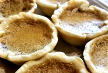close up of butter tarts