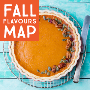 Fall Flavours Map featuring flavors from across Wellington County