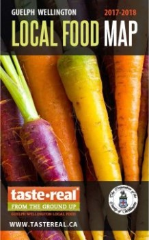 Local Food Map 2017-2018 cover with carrots