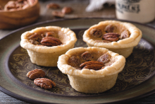 pecan butter tarts on a plate