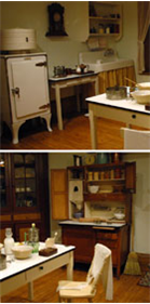 1920s Kitchen exhibit at WCMA