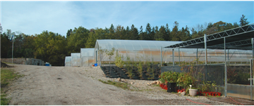 4 Nursery Green houses and the shade area built of metal frame/shade
