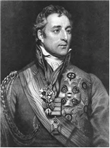 black and white Potrait of the 1st duke of Wellington