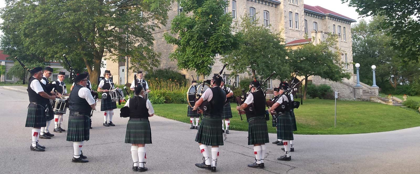 Group of Bagpipers