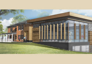 Artist's rendering of renovated Hillsburgh library