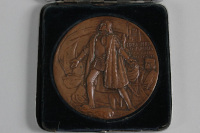 photograph of front of the 1893 Chicago World Fair medal