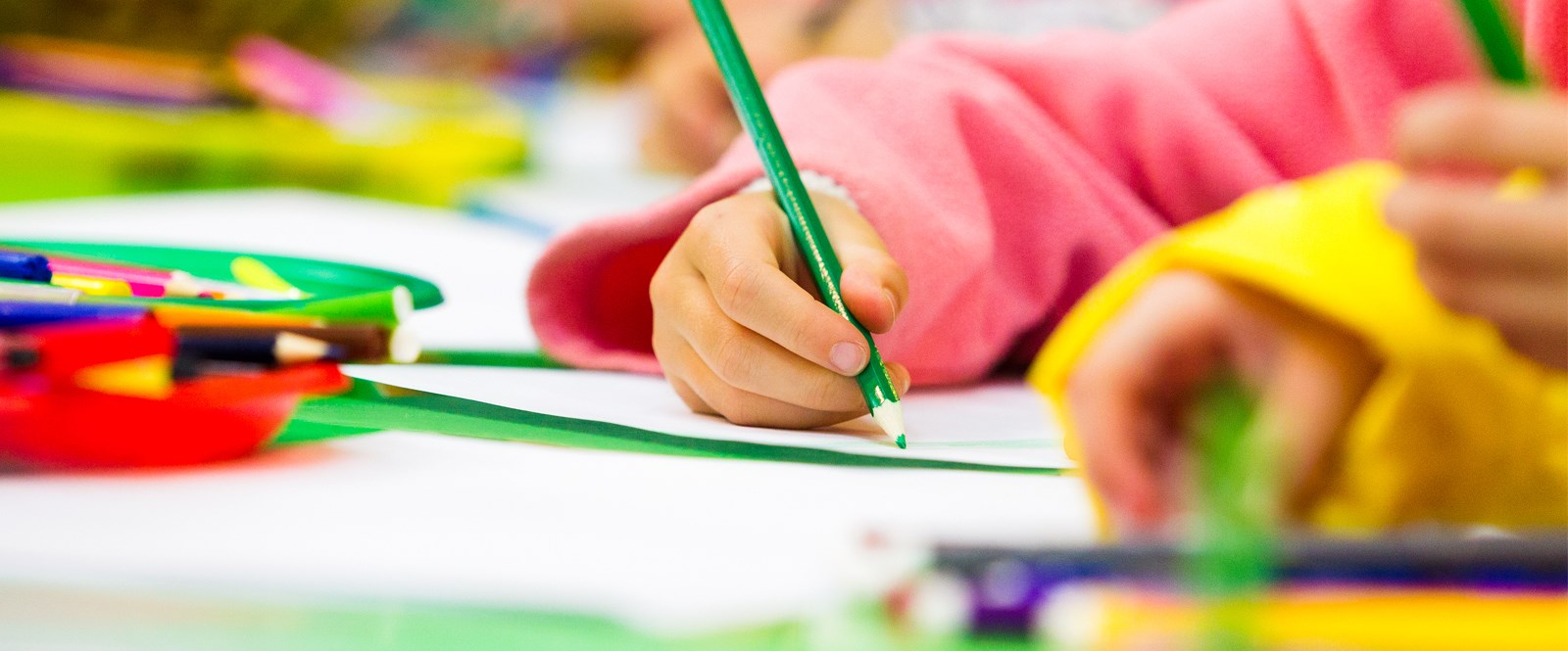 colour image of a kid colouring