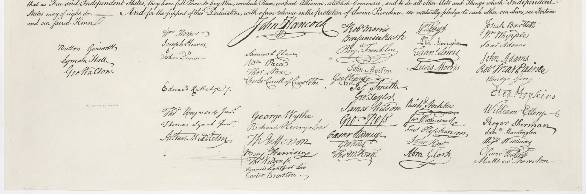 Open file in new window: USA declaration independence signatures pdf