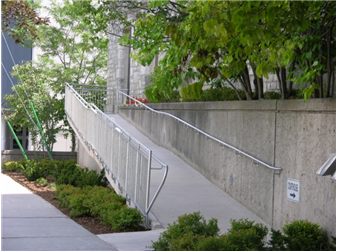 An accessible designed ramp