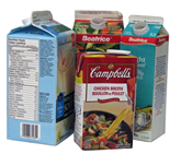 Acceptable Containers - Milk and soup cartons