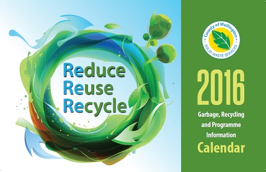 2016 Solid Waste Services Calendar