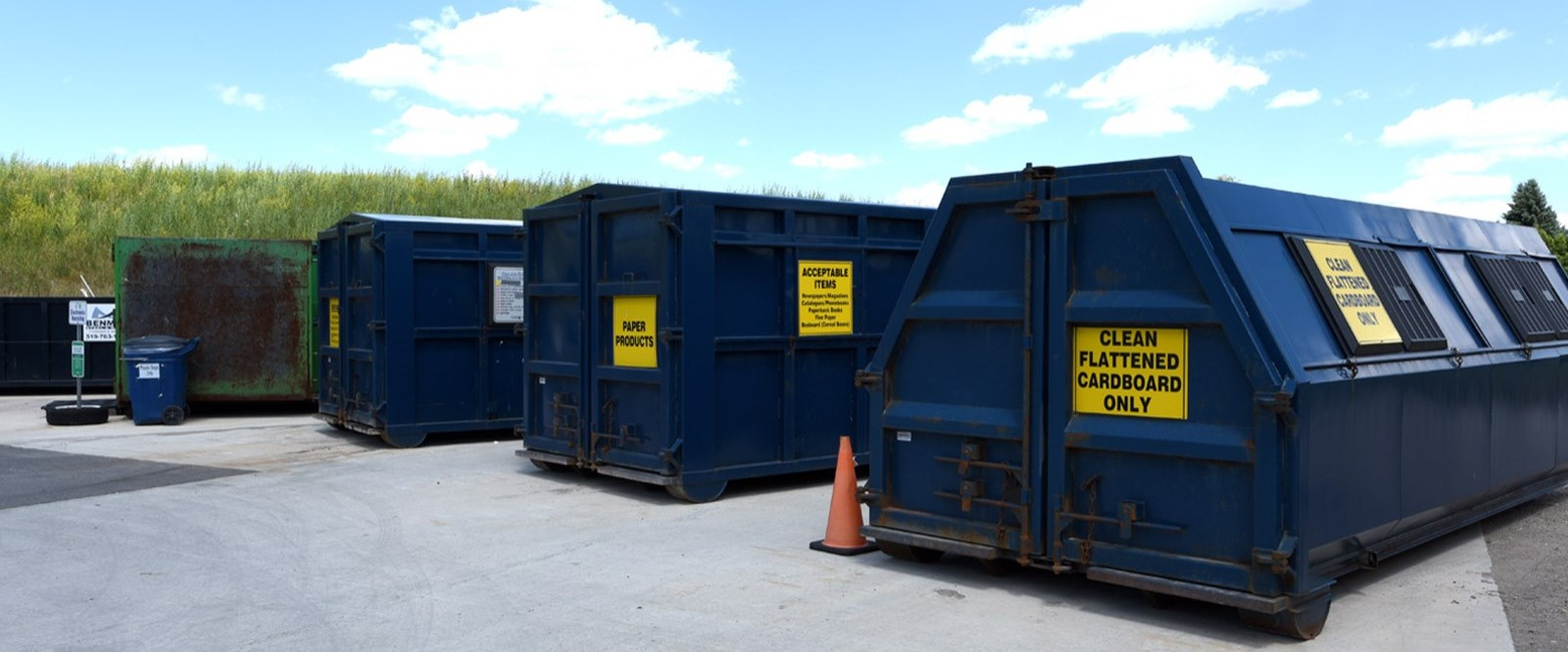 garbage containers at transfer station