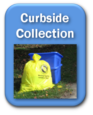 blue curbside collection button