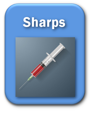 sharps button