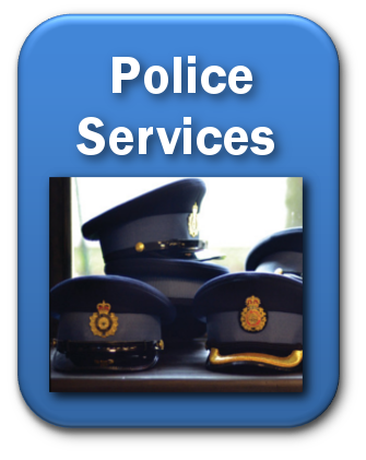 blue police services button